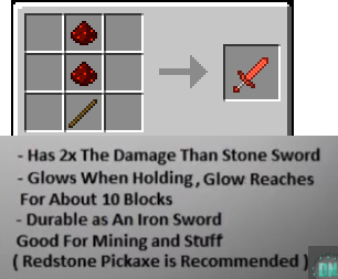 Minecraft Redstone Sword
