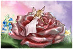 Pink Rose Faery by sweetcivic