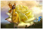 Yellow Rose Faery by sweetcivic