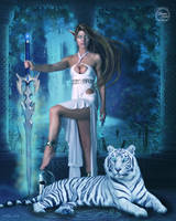 Hunter and Pet Tiger - v.1 by sweetcivic