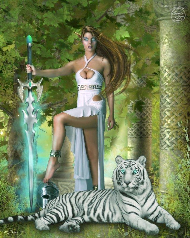 Hunter and Pet Tiger v.2