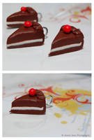 Mini Chocolate Cake Charm by sweetcivic
