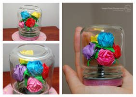 Mini Rainbow Rose Bouquet by sweetcivic