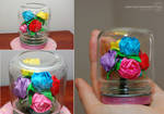 Mini Rainbow Rose Bouquet