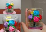 Mini Rainbow Rose Bouquet