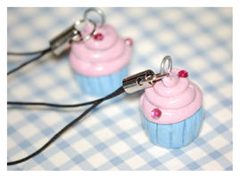 Mini Pink Blue Cupcake Charms by sweetcivic