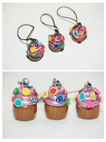 Cupcake Charms with Toppings 1 by sweetcivic