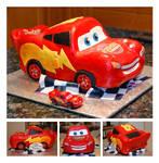 Lightning McQueen 3D Car Cake