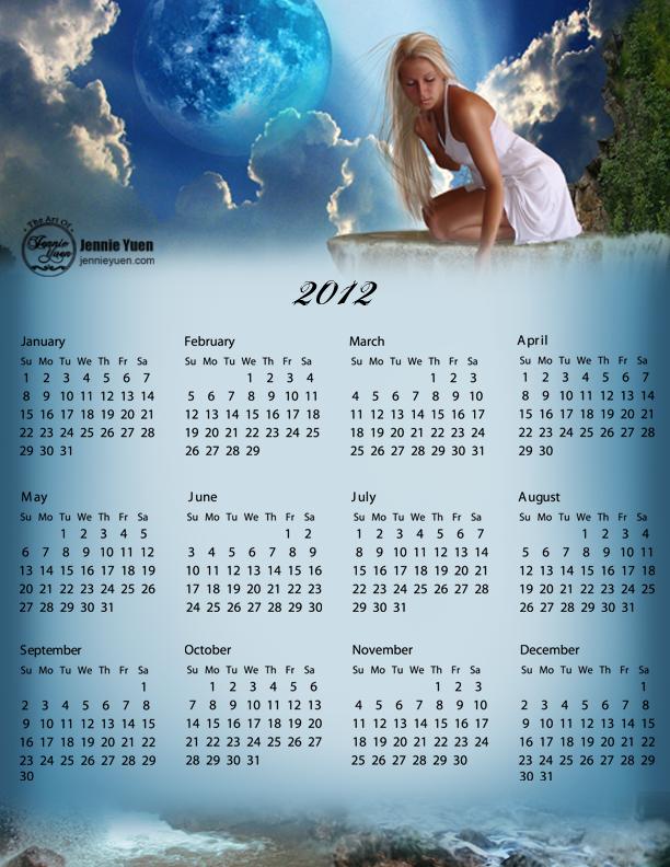 Making Waterfalls: 2012 Full Year Calendar