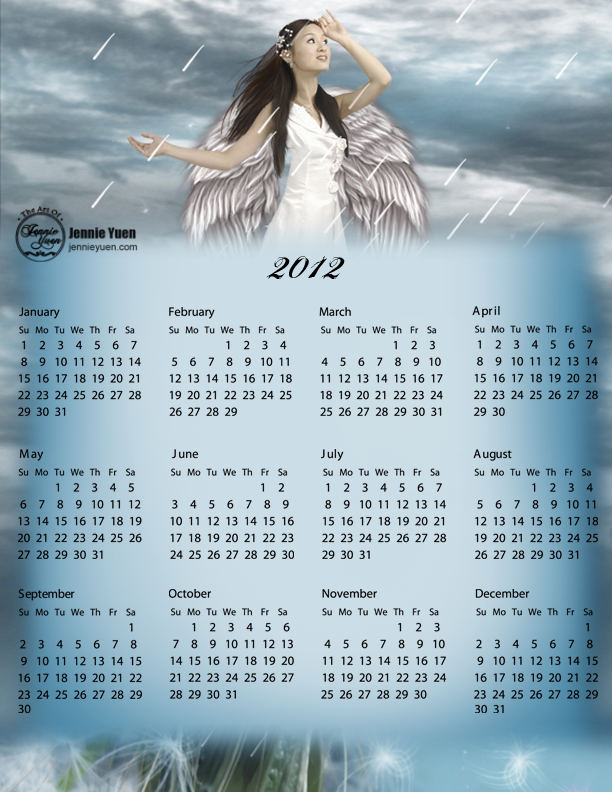 April Showers: 2012 Full Year Calendar
