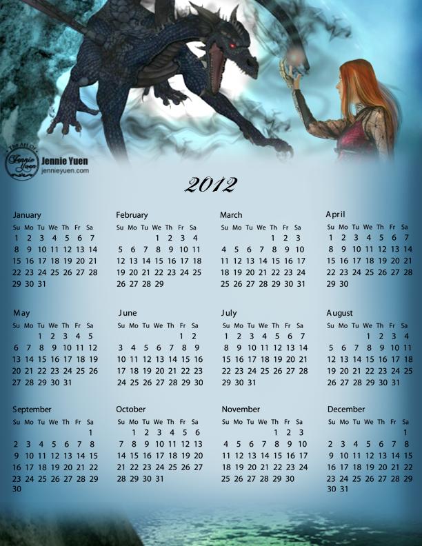 Dark Magic: 2012 Full Year Calendar