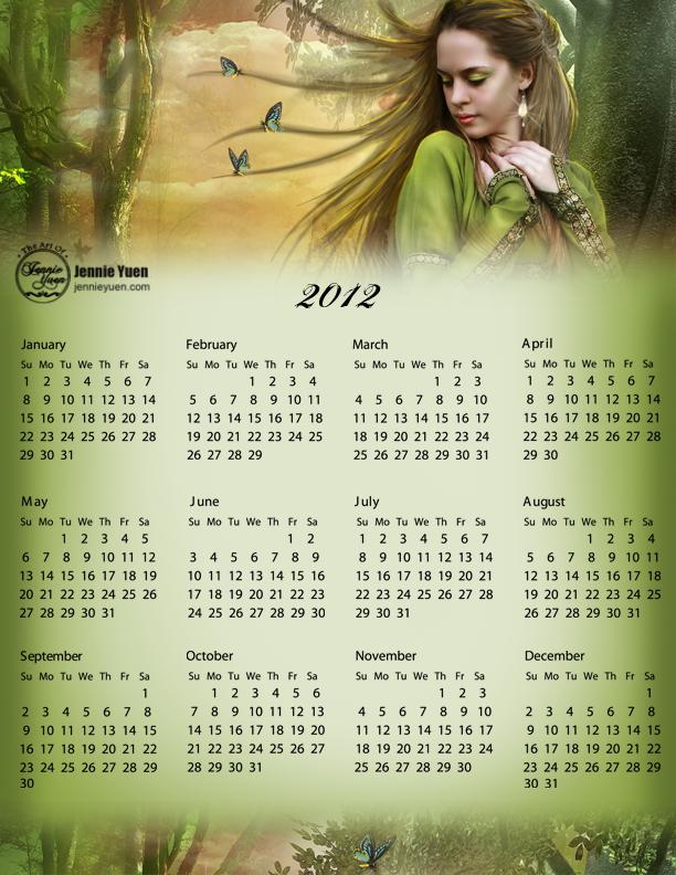 Running Away: 2012 Full Year Calendar