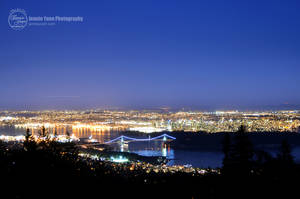 Vancouver Night View by sweetcivic