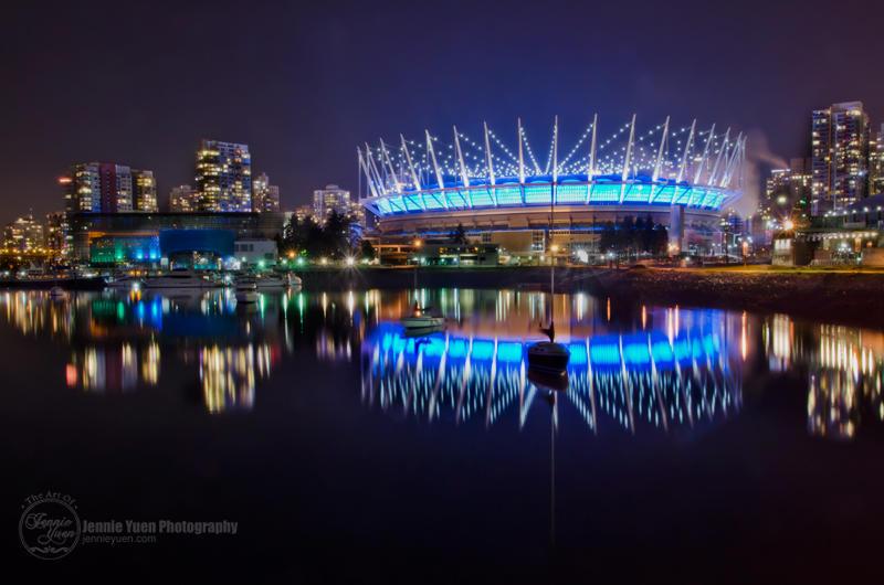 Night at BC Place Stadium