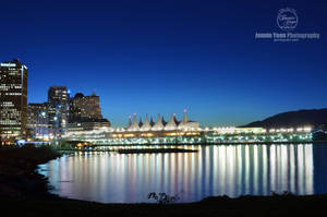 Vancouver Canada Place Night Cityscape by sweetcivic