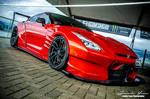 Red Nissan Skyline GTR R35