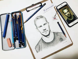 Paul Walker Pencil Drawing