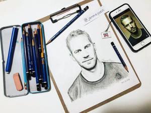 Paul Walker Pencil Drawing