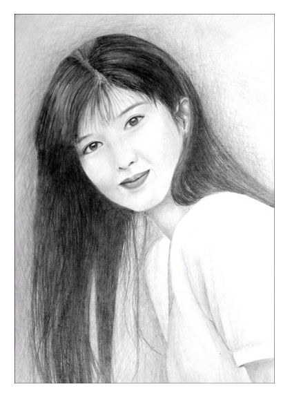 Pencil Sketch of Vivian Chow by sweetcivic