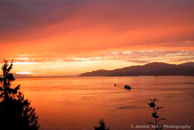 Sunset in Vancouver