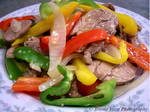 Sliced Pork and Bell Peppers
