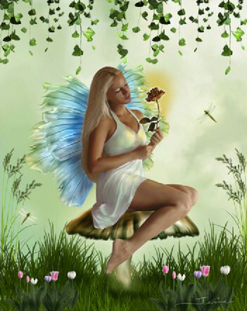 The Garden Fairy by sweetcivic