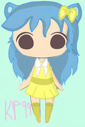 Blue and Yellow kitty adoptable (OPEN) by KawaiiPixels99