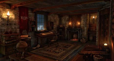 Medieval science room
