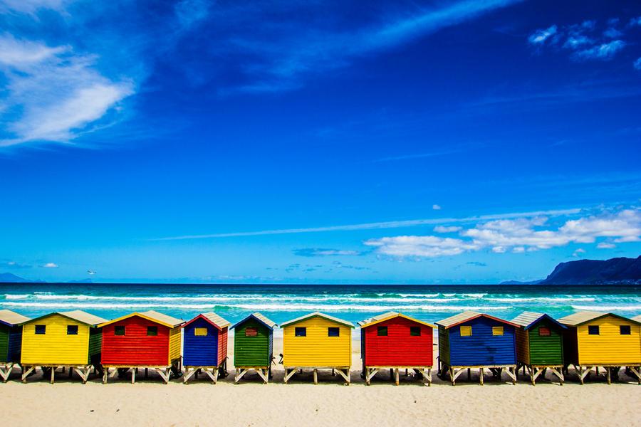 Muizenberg beachhouses by icmb94