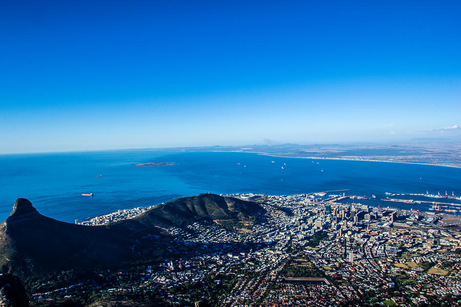 Cape town from table mountain by icmb94