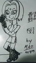 The prettiest Sakura Haruno by Mao2018