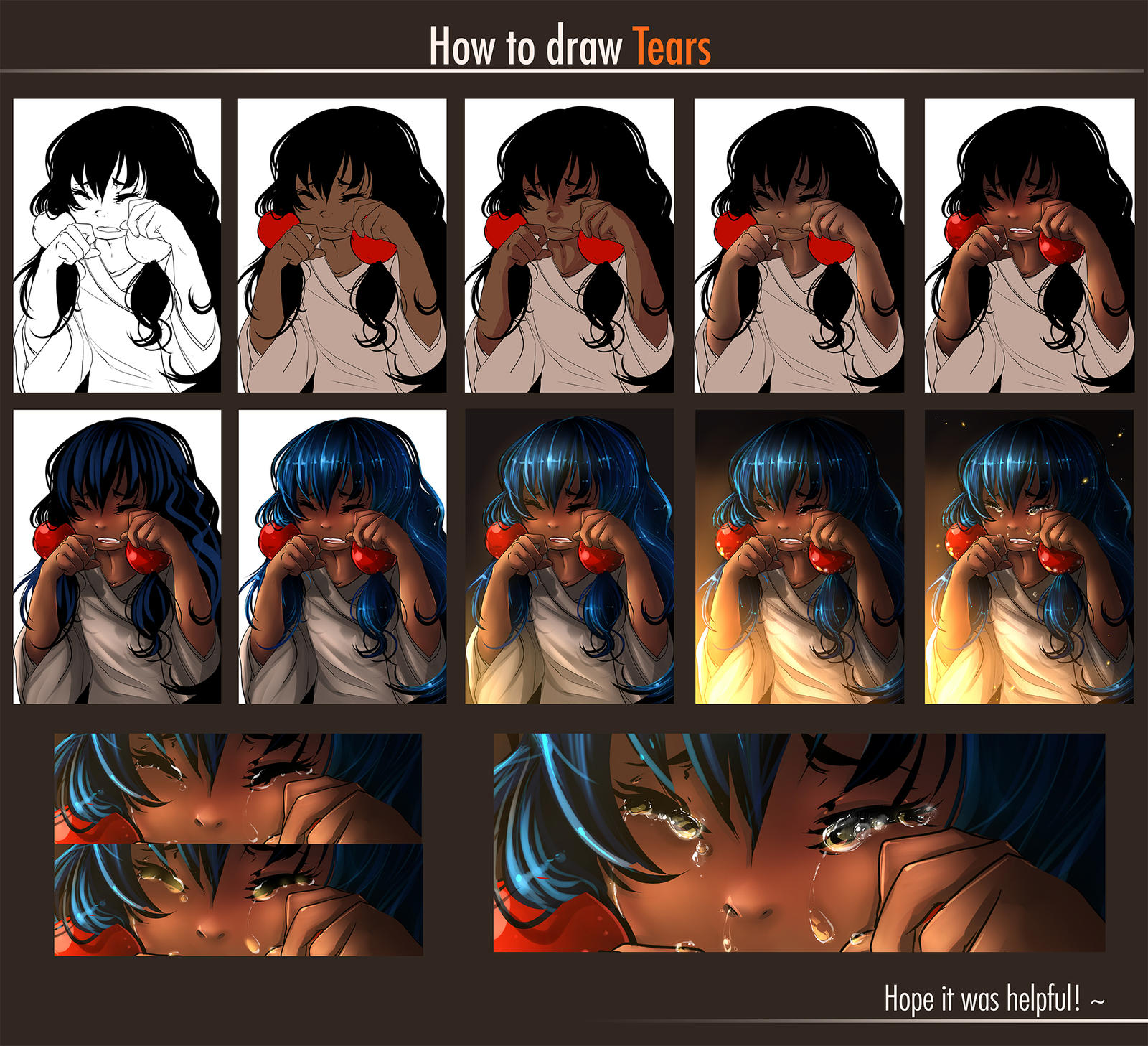 How To Draw Tears By Yokufo On DeviantArt
