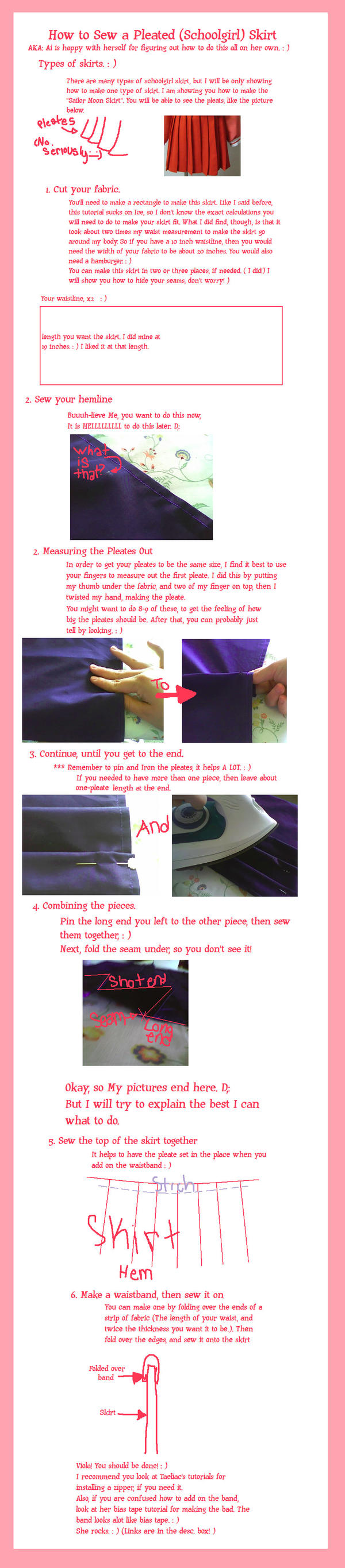 Pleated Skirt Tutorial by Aidotcom