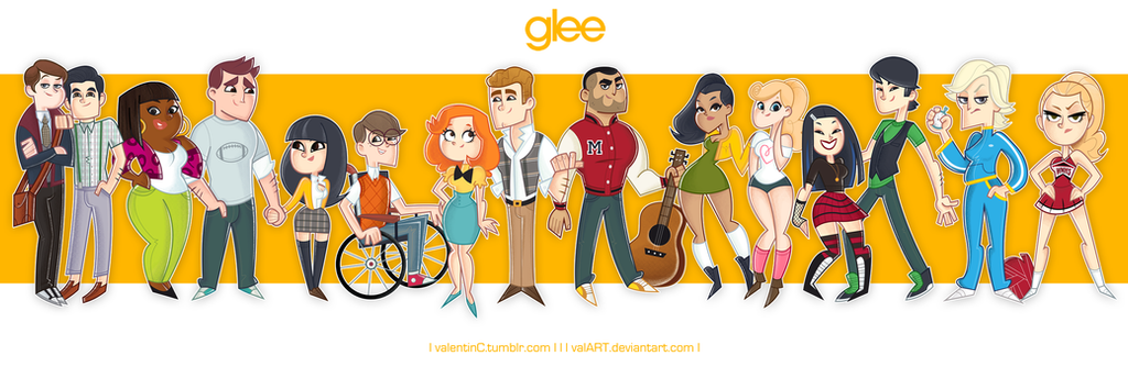 GLEE crew by ValArt