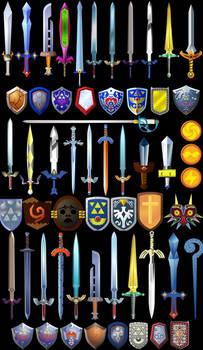 Zelda swords by Doctor-G