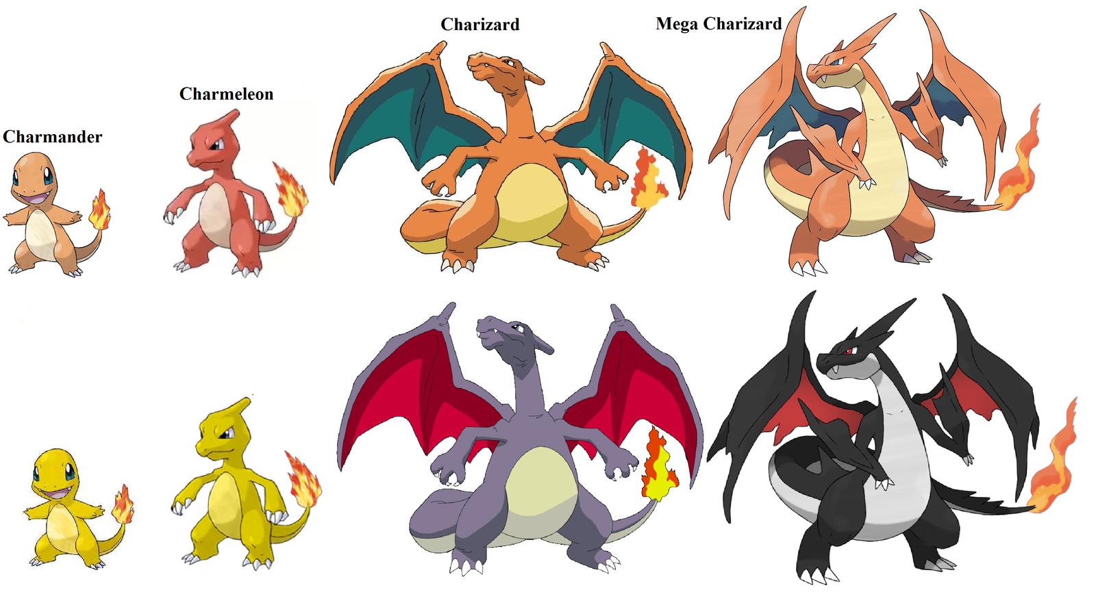 Charizard evolutions by skilarbabcock on deviantart - Pokemon xy mega evolution chart ...