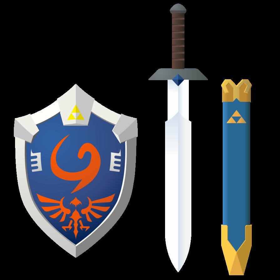 heros sword and new age deku shield by skilarbabcock on