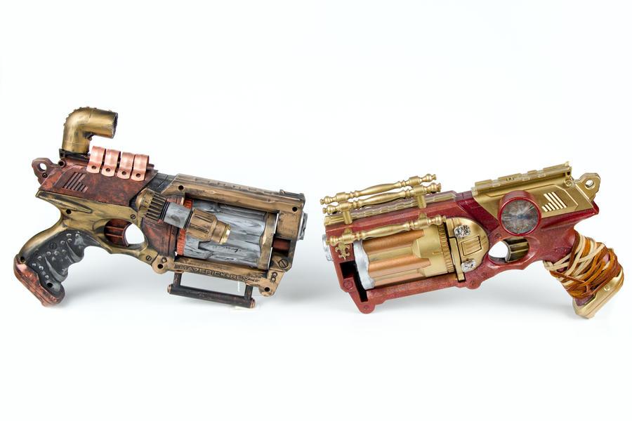 Dual steampunk pistols by 3Dpoke