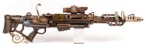 Steampunk Rifle by 3Dpoke