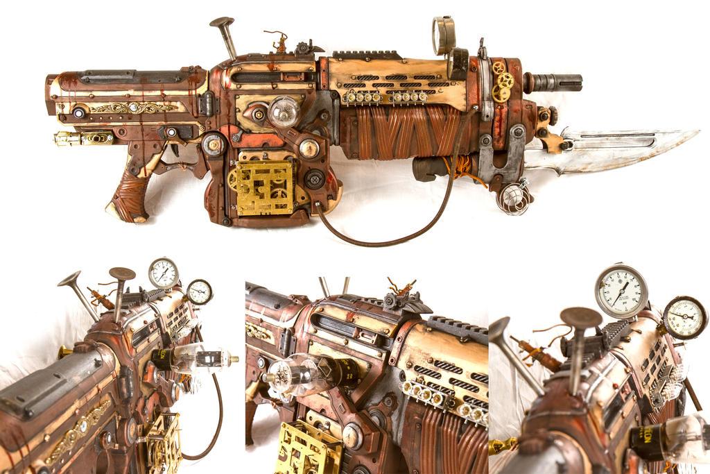 Steampunk Assault Rifle by 3Dpoke
