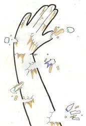Broken hand by MafiPaint
