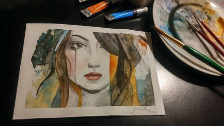 Attempting watercolor