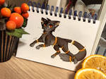 Day Eight - Fruit Cat by Blooming-Lynx