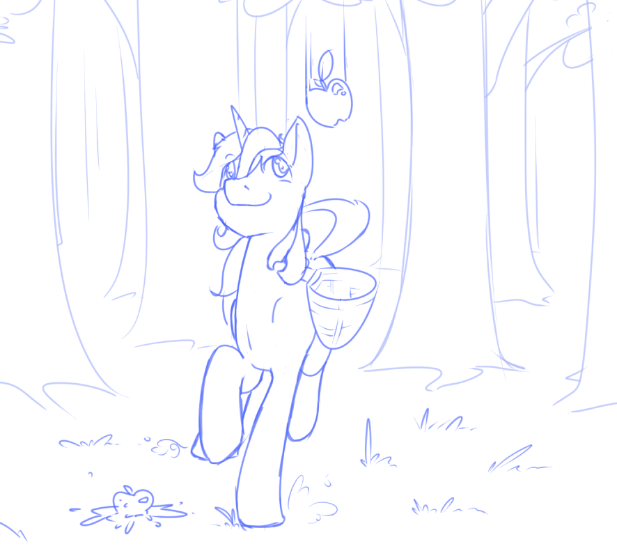 Sketch 8-10 Lyra Catching Apples by Geomancing