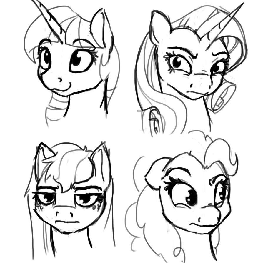 Sketch 4-22 Facial Expressions by Geomancing