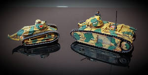 Renault FT and Char b1 Bis