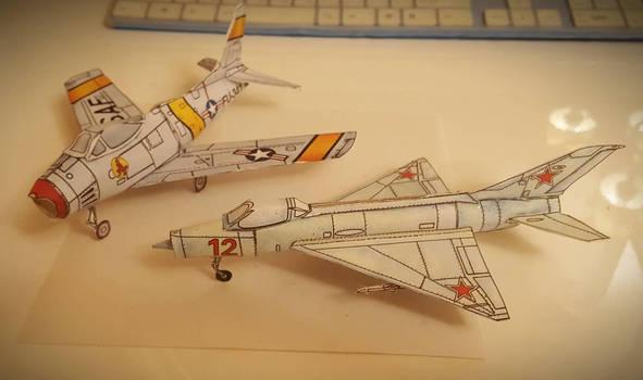 Paper Models Mig and Sabre