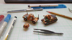 French Vehicles paper models designs