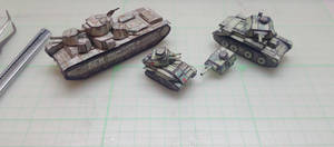 T35 Vickers and Early Cruiser paper models