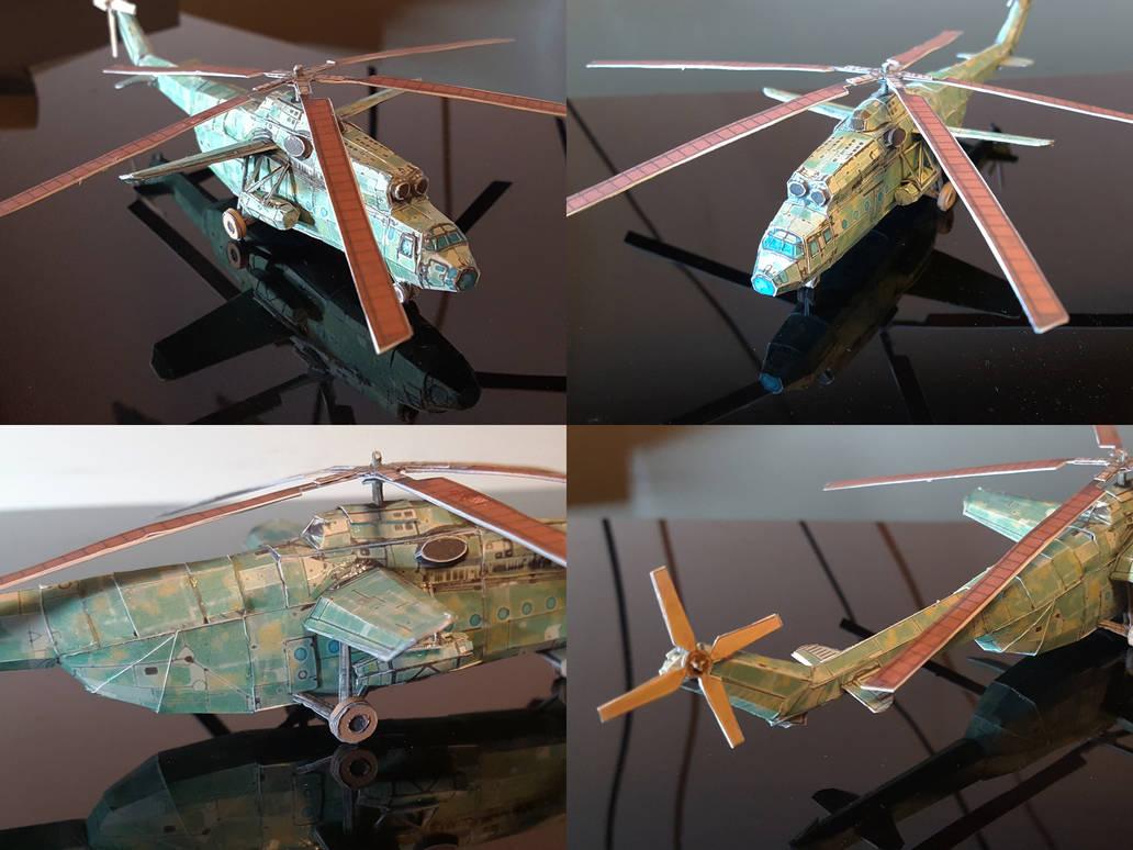 Mil Mi 6 Hook Paper Model